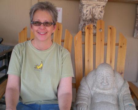 Buddha on bench